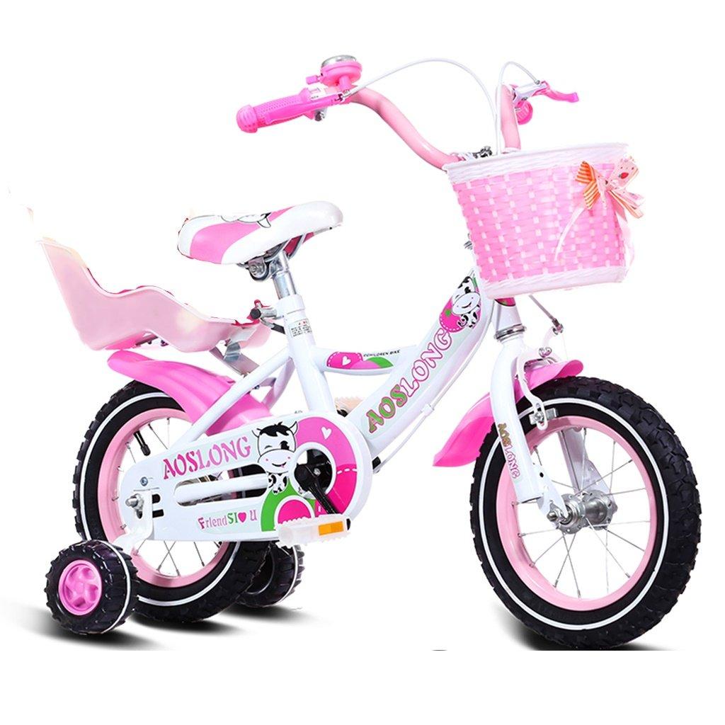 美しい 家チャイルドフォールド自転車3-6-8歳のベビーベビーカー12インチ14インチ16インチ18インチバイク (色 : Pink 3, サイズ さいず : 12Inch) B07CXJFKC7 12Inch Pink 3 Pink 3 12Inch