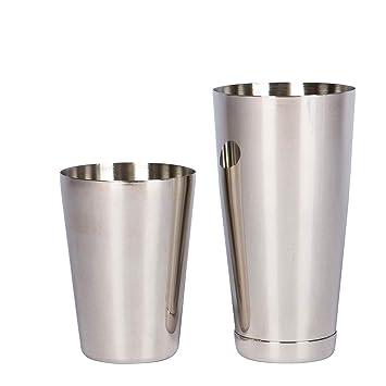 Favsonhome - Coctelera de acero inoxidable Boston, juego de 2 piezas: 18 oz sin peso y 28oz pesado profesional Bartender Cocktail Shaker: Amazon.es: Hogar