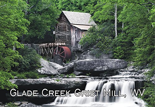 Babcock State Park, Glade Creek Grist Mill, West Virginia, WV, Travel, Souvenir, Refrigerator, Locker Magnet 2 x 3 Fridge Magnet (Wv Souvenirs)