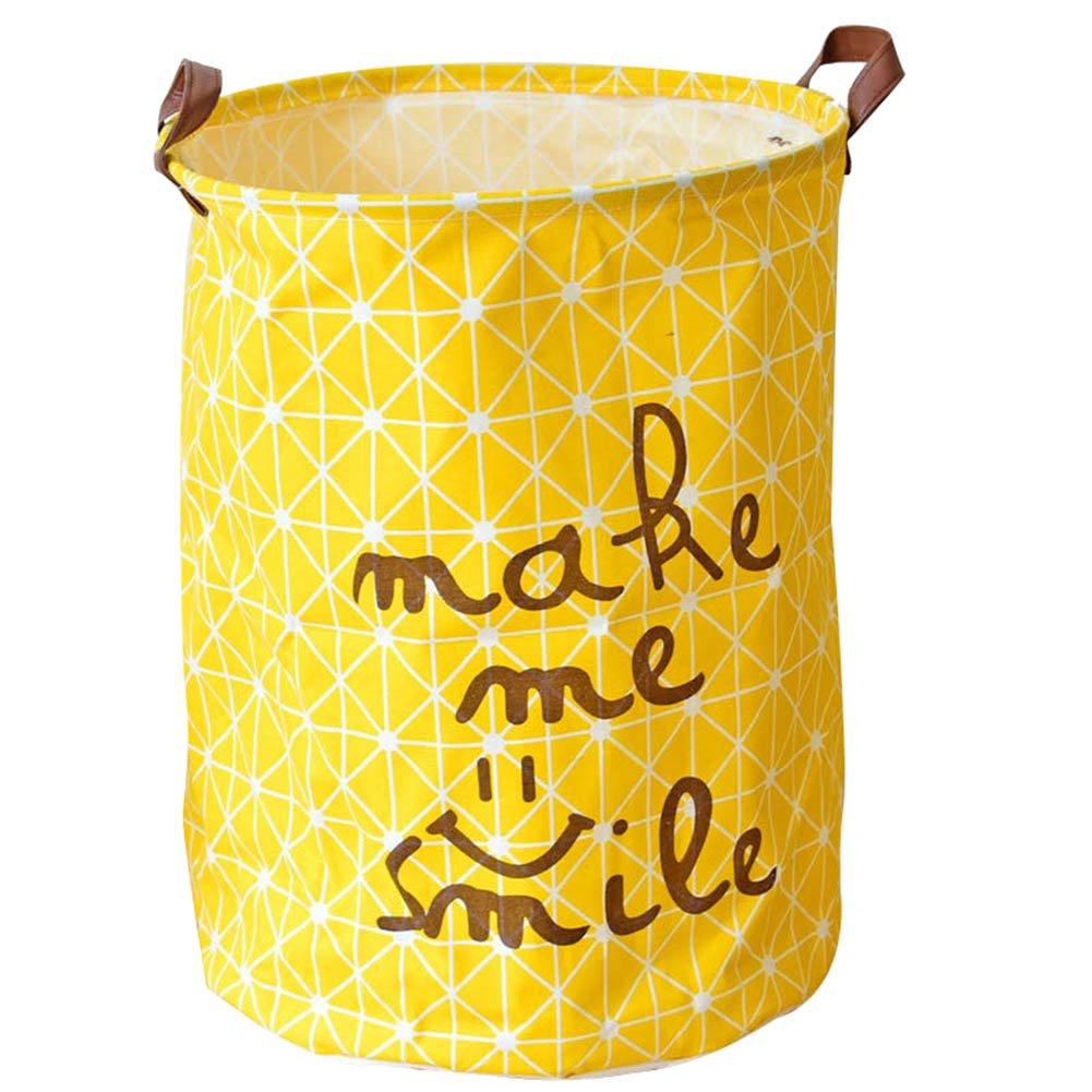 ZREAL groß Baumwolle Storage Wäschesack Eimer Wasserdicht Bucket Organizer Tool grau