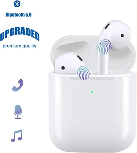 Bestf Wireless Earphones, Bluetooth Earbuds Noise Canceling in-Ear Waterproof Sports Headphones, with Built-in Mic for Andriod and iPhone Smartphone with Charging case