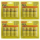 LONSANT Sticky Fly Ribbons,Fly Catcher Ribbon,Fly Paper Ribbon,Fly Paper Strips,Fly Trap,Fly Bait,Super Value 16PCS