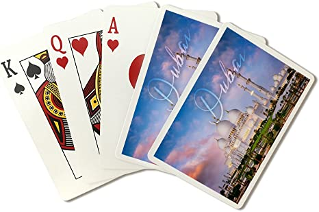 Amazon Com Dubai United Arab Emirates Mosque And Sunset Playing Card Deck 52 Card Poker Size With Jokers Everything Else