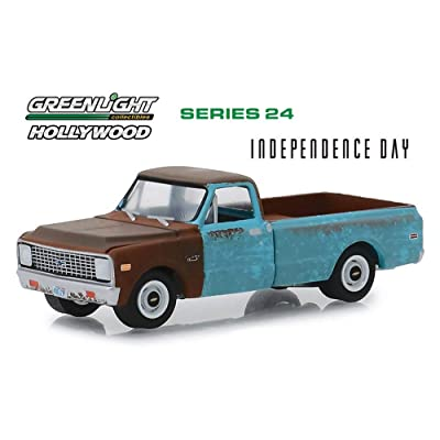1971 Chevy C-10 Pickup Truck, Independence Day - Greenlight 44840D/48 - 1/64 Scale Diecast Model Toy Car: Toys & Games