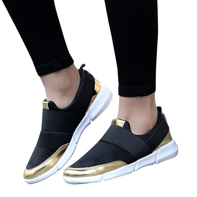 4a0985760620c Loafers Zapatos Deporte Mujer De Malla Transpirable Patchwork Zapatillas  Deportivo Sin Cordones Con Plataforma De Suela Cómodas Calzados Para Correr  Fitness ...