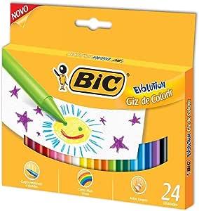 Giz de cera 24 cores Evolution 902297 Bic