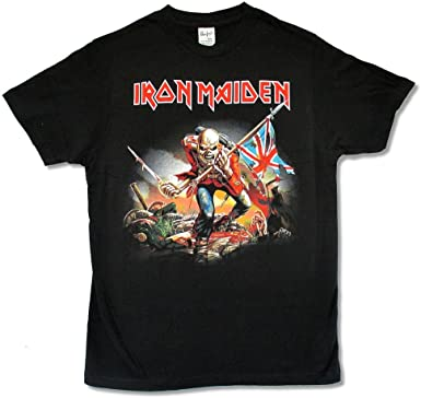 The Trooper Iron Maiden Official Men/'s Black T-Shirt