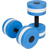 FANZEOS Aquatic Exercise Dumbbells,Water Aerobics Fitness and Pool Exercises - Set of 2 - for Water Weights Fitness Barbells
