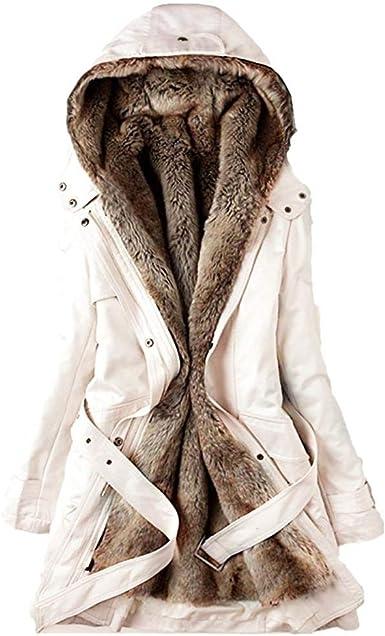 FELZ Abrigos Mujer Invierno Abrigo de algodón Caliente Ultra ...