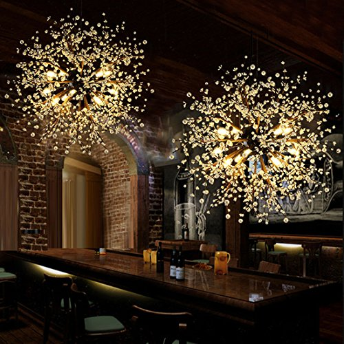 Gdns 8 Pcs Lights Chandeliers Firework Led Vintage Wrought