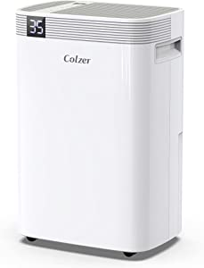COLZER 3500 Sq Ft Dehumidifiers 50 Pints for Home Basements, Garage, Humid Bathroom, Laundry Room, Grow Room, with Drain Hose for Continuous Drainage
