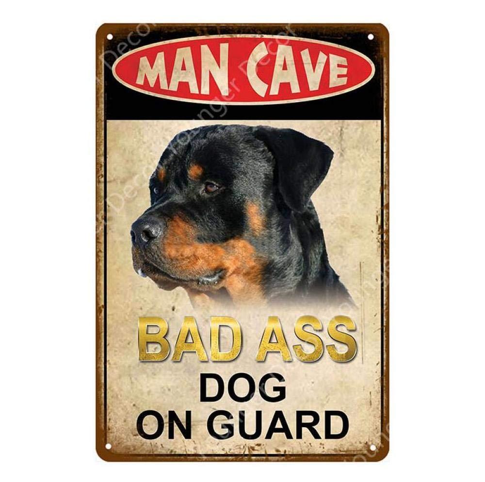 Cartel de Chapa Pintura metálica Cuidado con el Gato Perro ...