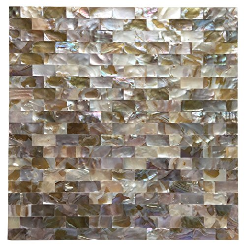 Art3d 6-Pack Colorful Mother of Pearl Shell Tile for Shower Wall, 12