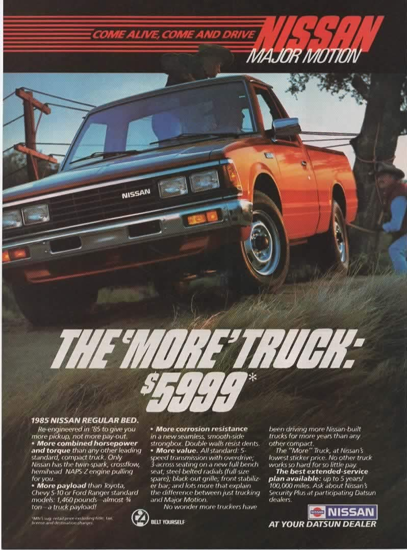 Magnificent Magazine Print Ad Red 1985 Nissan Regular Bed Pickup Truck Pabps2019 Chair Design Images Pabps2019Com
