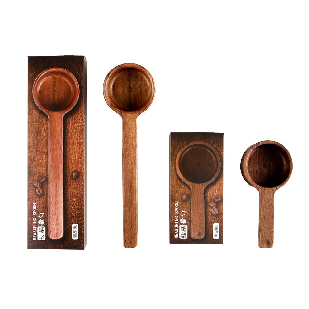 Coffee Scoop 8g 10g Table Spoon or Tea Coffee Spoon Scoop Wood Measuring Spoon Great for Measuring Coffee, Protein Powder, Spices and More, Set of 2