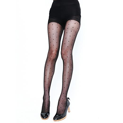 60eee4b2922 Women s Sheer to Waist Line Floral Patterned Tights Pantyhose Tattoo Tights  ...
