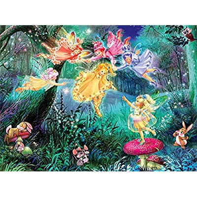 Ceaco Fairies with Dancing Frogs Puzzle - 100Piece Puzzle: Toys & Games