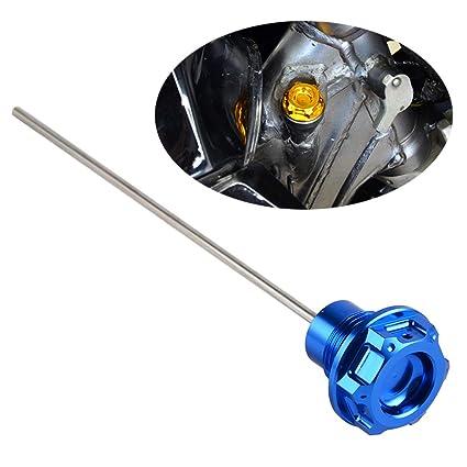 Nicecnc Blue Engine Oil Dispstick Stick Plug Level Gauge Replace Suzuki  DRZ400 DRZ400E DRZ400S DRZ400SM 2000-2016 2017 2018