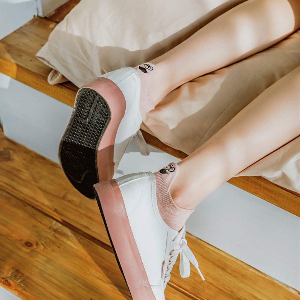 5 Paia Calze Donna Cotone Calze Corte Calzini Caviglia Traspiranti Calzini Cartone Animato Calzino Sportivo per Ragazza