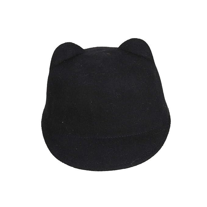02e2471939b Fashion Winter Wool Women Baseball Hat Lady Snapback with Devil Horns Cute  Cat Ear hat Animal