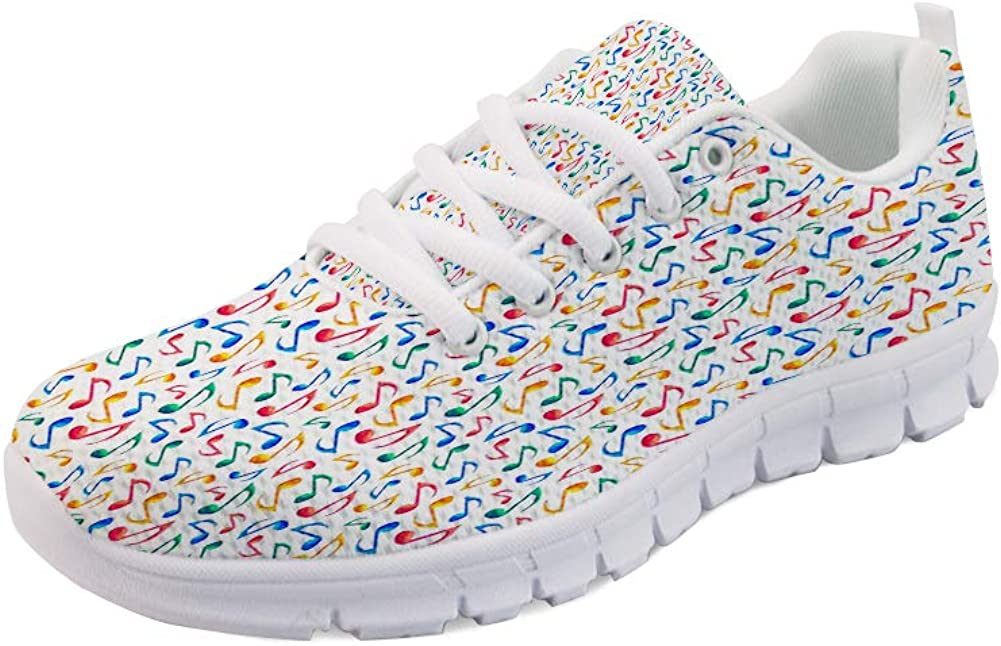 GULTMEE Lightweight Running Sneakers,Cute Noel Themed Elf Houses with Hats Doodle Trees and Snowflakes Colorful Image,Air Mesh Sports Shoes,Women and Man
