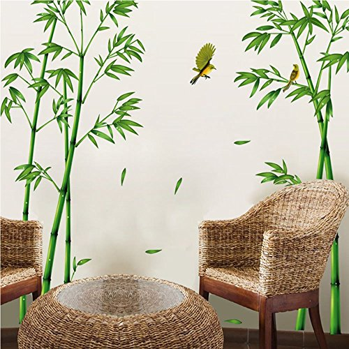 Funk 39 n shui with bamboo wall decals decorative decals for Bamboo wall mural wallpaper