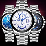 Smalody Casual Business Watch Men Full Steel Wateproof Quartz Watches Auto Day Date Clock