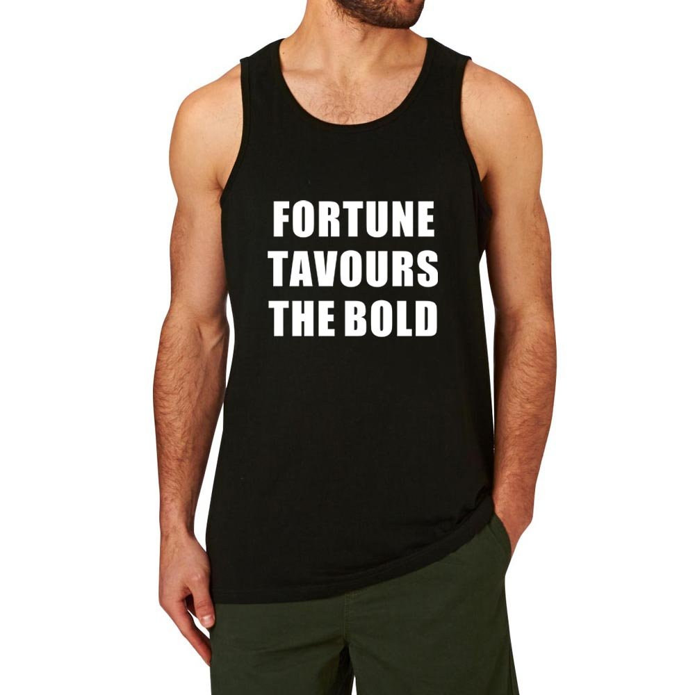6e55419a Loo Show Fortune Favours the Bold Summer Workout Tank Top Men ...