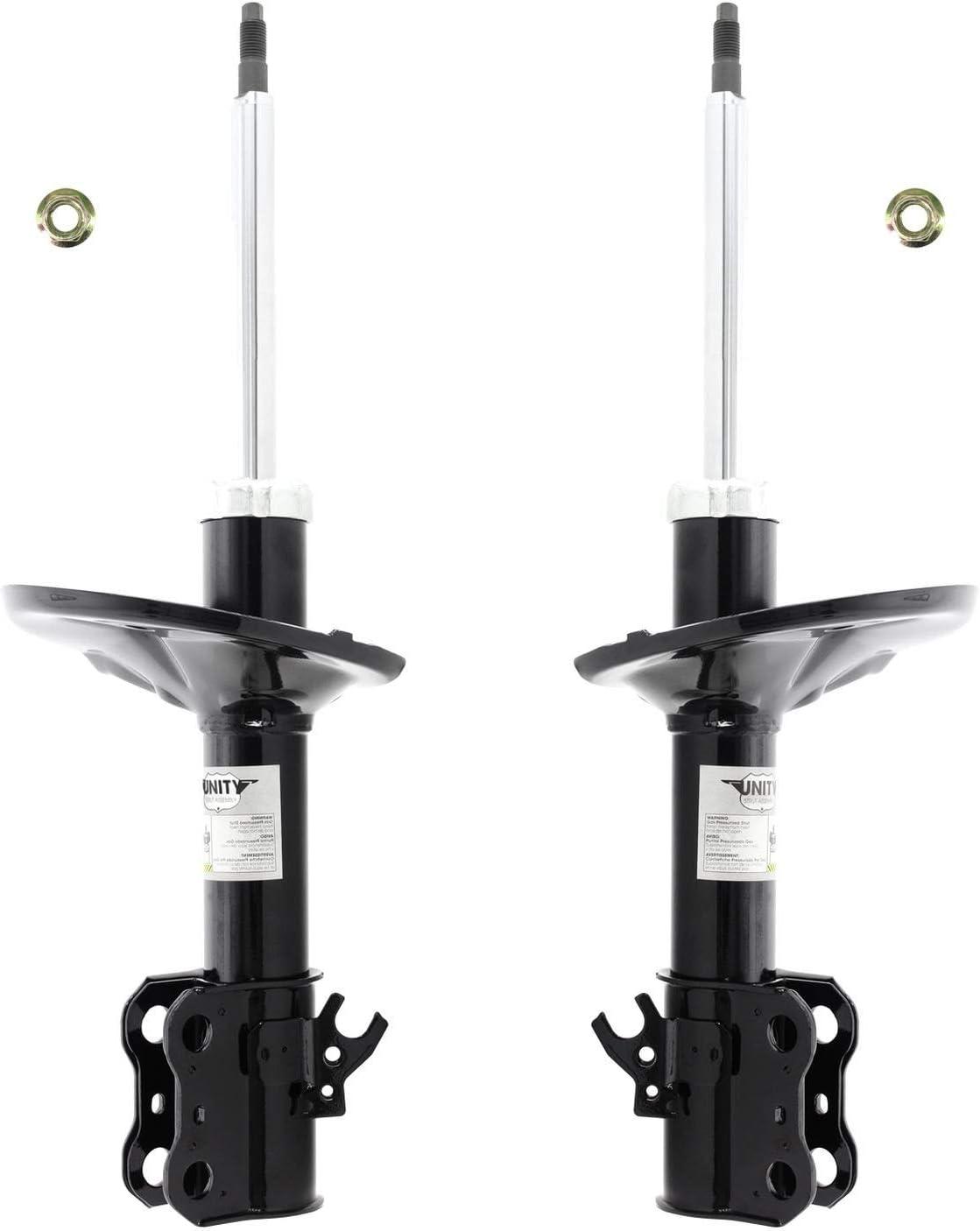 Front Pair Unity Automotive 2-214401-214402-001 Quick Complete Strut Assembly Kit