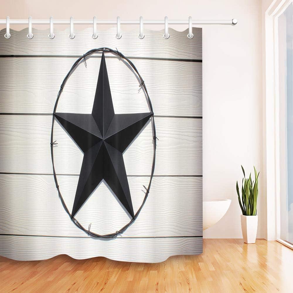 WACYDSD Metal Western Texas Star Cortinas De Baño Mamparas De Baño ...