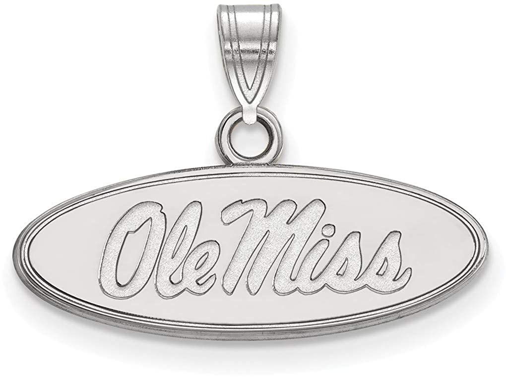 SS002UMS Sterling Silver University of Mississippi Small Pendant by LogoArt