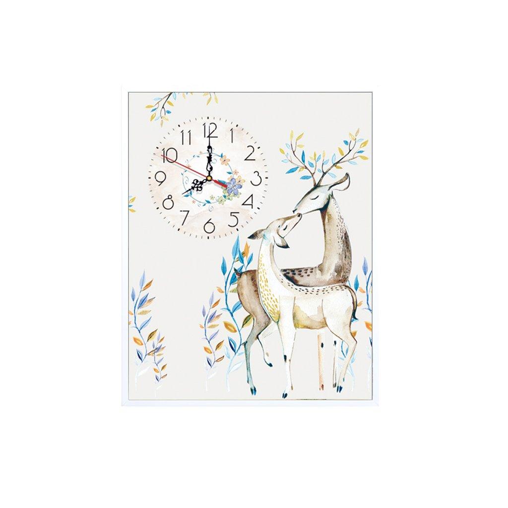 装飾的な背景クリエイティブアート絵画ウォールクロックアートマイクロフレームクリスタルクロックトリプルハンギングマイクロフレーム絵画の横バージョンリビングルームダイニングルーム (サイズ さいず : 45*55 cm) B07DG2K83N 45*55 cm 45*55 cm