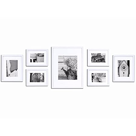 Gallery Perfect Picture Frame Set Assorted Size 7/Pkg-White: Amazon ...