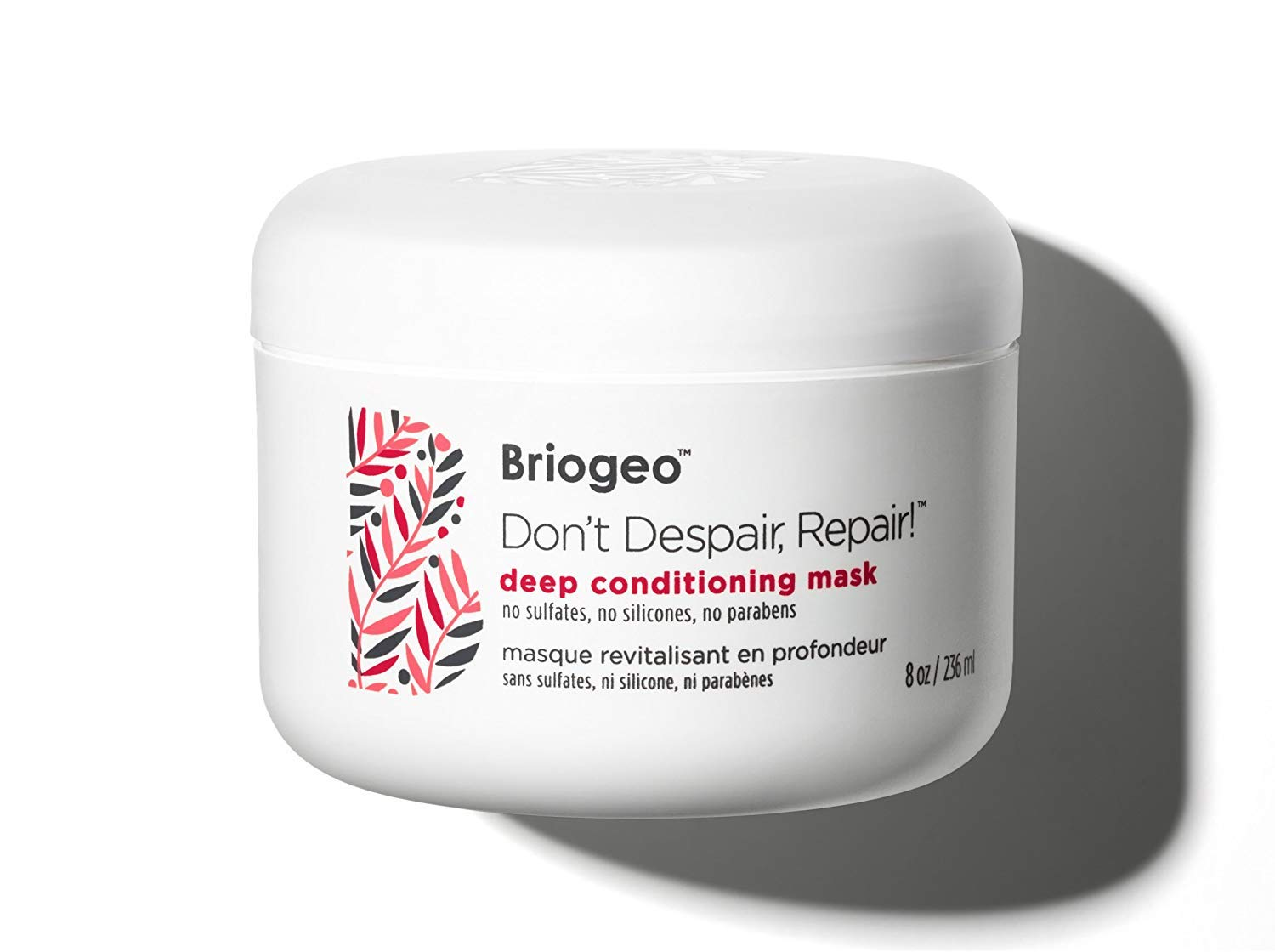 Briogeo - Don't Despair, Repair! Deep Conditioning Mask, Intense Hydration for Those with Dry, Damaged, Chemically Treated and/or Lifeless Hair, 8 oz (2 pack)