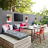 """Outdoor TV Cover, Weatherproof Universal Protector for 55"""" - 58"""" LCD, LED, Plasma Television Screens. Dust-Proof with Bottom Seal and Soft Liner - Compatible with Standard Mounts and Stands"""