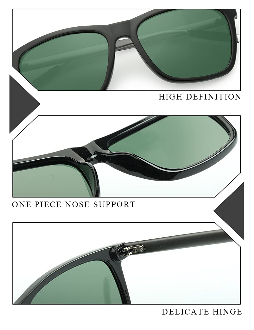 IALUKU Al-mg Polarized Sunglasses Women Men Mirrored UV400 Full Frame