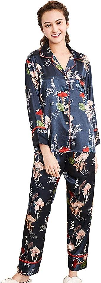 Mujer Pijamas Mujer Tops Pants 2 Primavera Pedazos Otoño ...