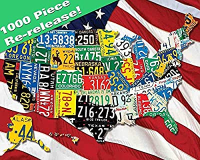 Springbok Puzzles - State Plates - 1000 Piece Jigsaw Puzzle - Large 24 Inches by 30 Inches Puzzle - Made in USA - Unique Cut Interlocking Pieces