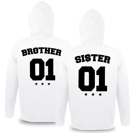 Comedy Shirts Partnerlook Hoodie mit Wunschname & Wunschnummer INDIVIDUALISIERBAR – Pullover für Pärchen, Familie & Freunde zum Bedrucken Schwarz,