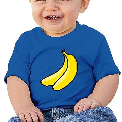 zhangyu Banana Fruit Baby and Toddler Soft Cotton T-Shirt Short-Sleeve Shirts