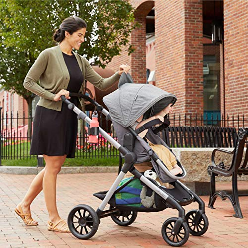 61WTFiCfnQL - Pivot Xpand, Modular Baby Stroller, Converts To Double Stroller (Additional Toddler Seat Not Included), Percheron Gray