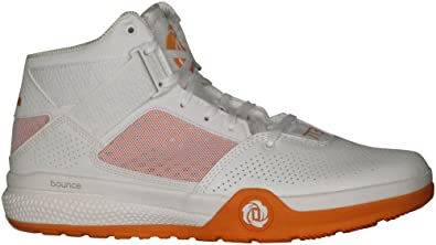 quality design 96a16 19198 adidas Mens SM D Rose 773 IV Basketball RunningWhiteOrangeRunningWhite  9.5 D(