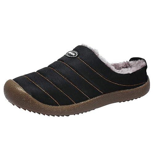 Zapatillas Deporte Hombres Mocasines Hombre Zapatillas De Algodón Impermeables para Hombre, Además De Botas De Terciopelo para El Hogar, Botas De Nieve.