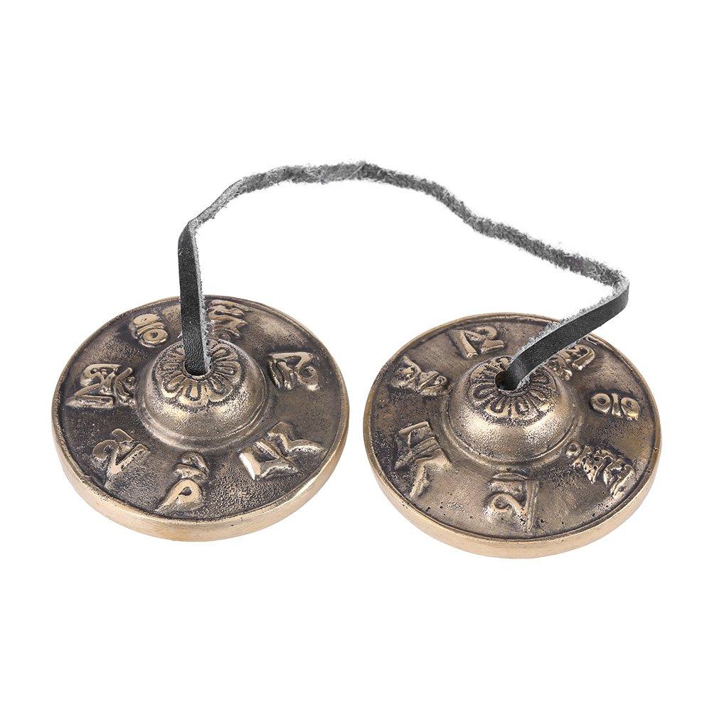 Buddhism Handmade Brass Finger Cymbals Bells, Tibetan Bell Buddhist Religious Musical Apparatus, 65mm Yoga Meditation Tingsha Bell Chimes Cymbal Set Walfront Walfront82fknu1dap