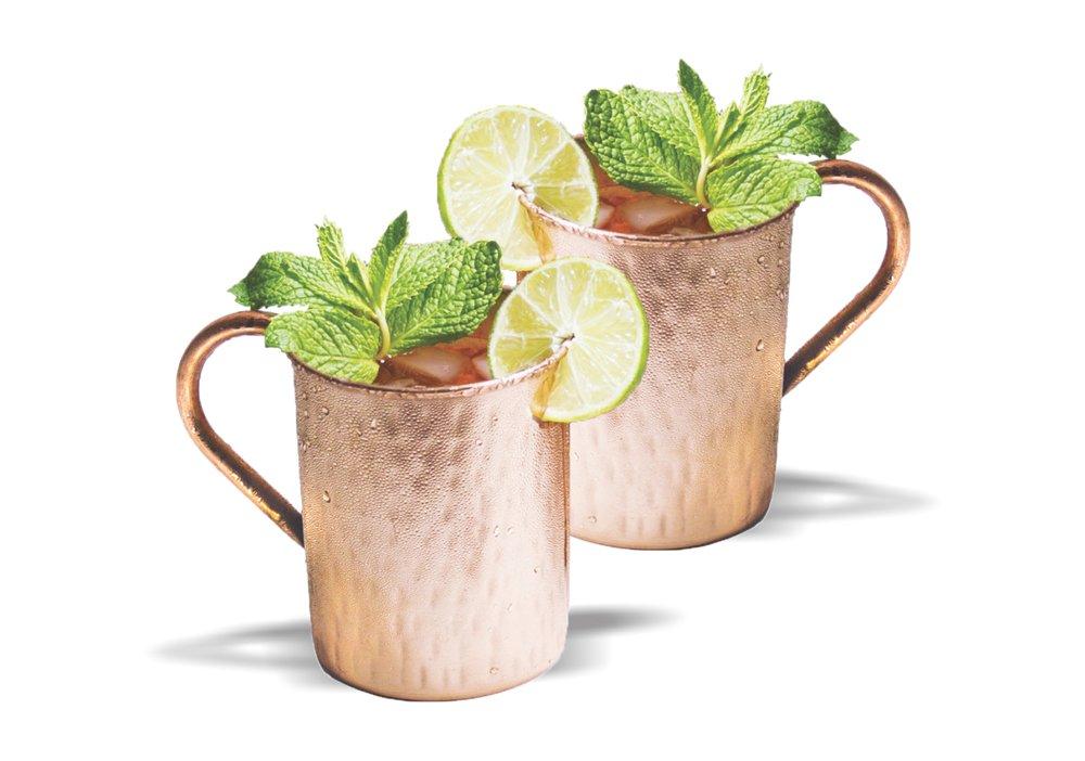 ZamZug Set of 2 Diamond Mug Moscow Mule - 530 ML each - Beer, Soft Drinks, Wine - Bars, Hotels, Restaurant, Gift Item
