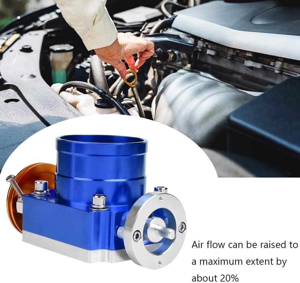 Corpo farfallato Akozon corpo farfallato universale in alluminio CNC ad alta portata da 70 mm per acceleratore meccanico generale Blu