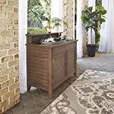 Home Styles 5134-62 Montego Bay Outdoor Solid Wood Dry Sink Cabinet, Barnside Brown