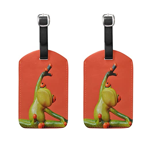 2 Pack Luggage Tags Frog Handbag Tag For Travel Bag Suitcase Accessories