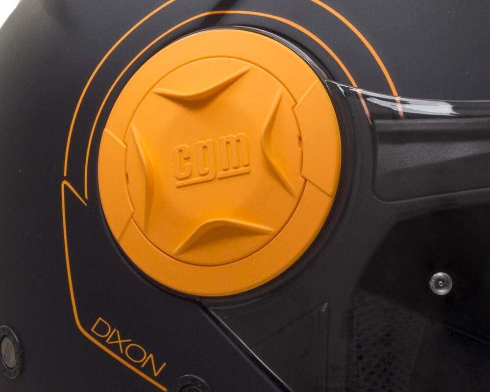 DIXON pinlock 129S-ALV-19 AMARILLO FLUO MATE CASCO JET PANTALLA XS