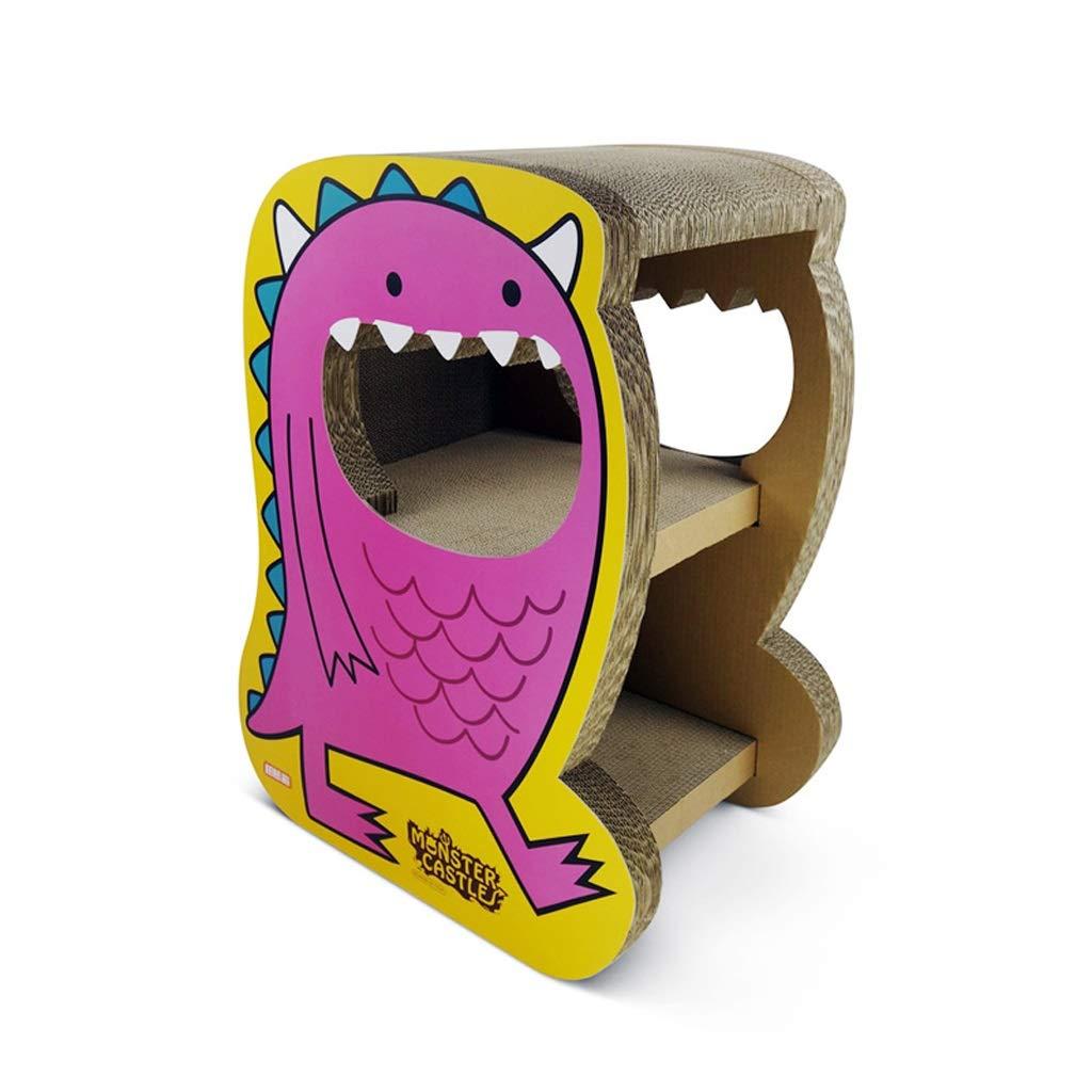 CXQ Cute Cartoon Big Mouth Monster Creative Double Layer Corrugated Paper Cat House Cat Tent Cat Scratch Board Cat Litter